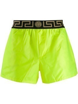 Versace greca border swim shorts - Yellow
