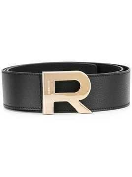 Rochas logo buckle belt - Black
