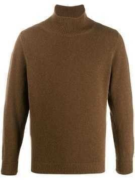 Caruso roll neck sweater - Brown