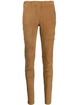 Arma skinny leather trousers - Brown