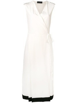 Cashmere In Love crepe envelope wrap dress - White