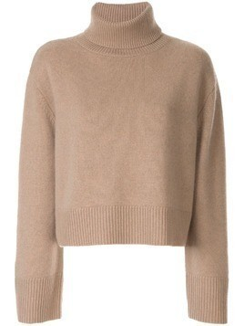 Co cashmere roll neck jumper - Brown