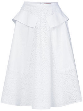 Nº21 lace A-line skirt - White