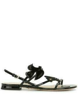Christian Dior pre-owned bird motif sandals - Black