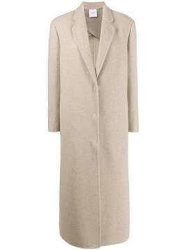 Agnona long single-breasted coat - NEUTRALS