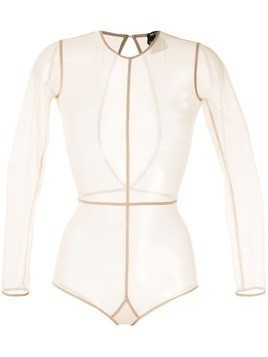 Ann Demeulemeester sheer bodysuit - Brown