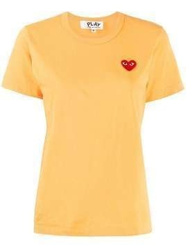 Comme Des Garçons Play logo embroidered crewneck T-shirt - Yellow