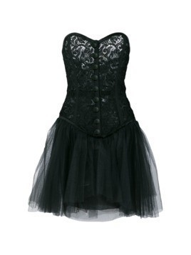 Yves Saint Laurent Vintage lace corset party dress - Black