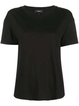 Theory plain panelled T-shirt - Black