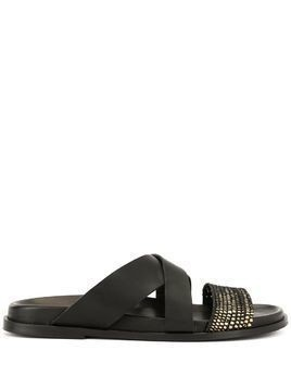 Casablanca woven strap sandals - Black