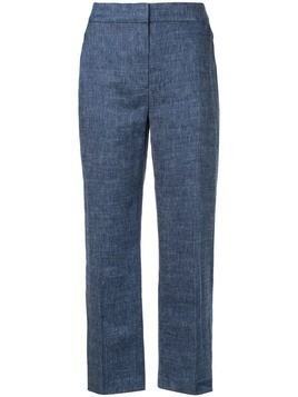 Elie Tahari chambray trousers - Blue