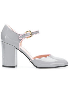 Pollini block heel Mary Jane pumps - Grey