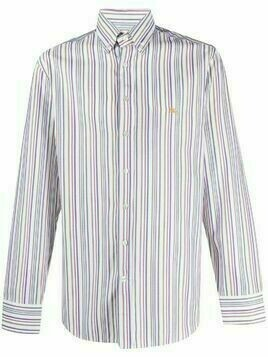 Etro logo striped shirt - White