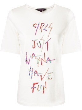 Manish Arora hand embroidered T-shirt - White