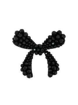 Simone Rocha Crystal Bow Brooch - Black