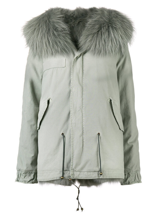 Mr & Mrs Italy short hooded parka - Grey