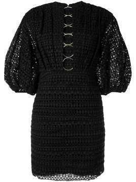 Acler Daniels embroidered mini dress - Black