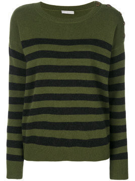 Vince cashmere striped longsleeved top - Green