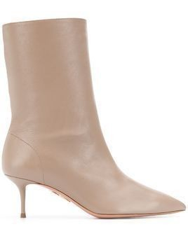 Aquazzura pointed ankle boots - NEUTRALS