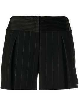 Giorgio Armani Pre-Owned pinstripe mini shorts - Black