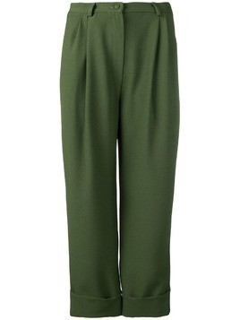 Hebe Studio boyfriend trousers - Green