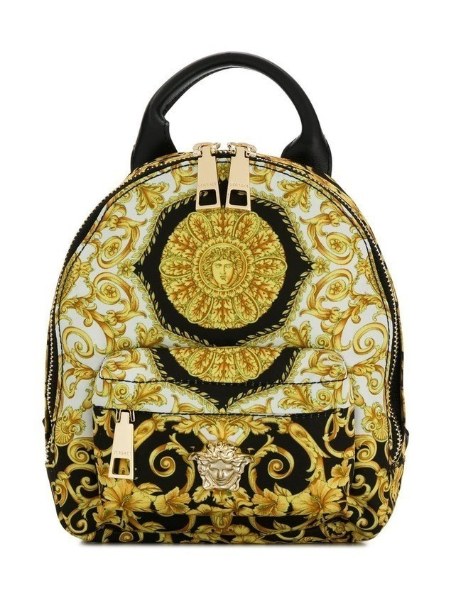Young Versace baroque backpack - Yellow
