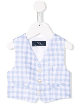 Harmont & Blaine Junior checked vest - Blue