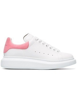 Alexander McQueen Exaggerated Leather Sneakers - White