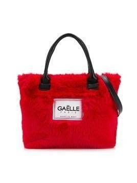 Gaelle Paris Kids logo patch tote bag - Red