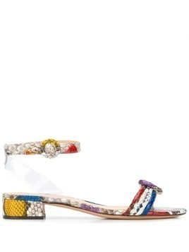 Alexandre Birman colour block open-toe sandals - Red