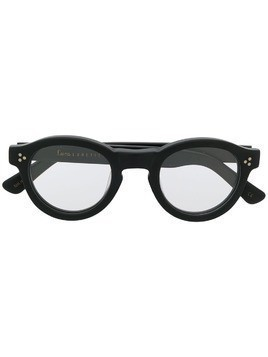 Lesca Gaston round frame glasses - Black