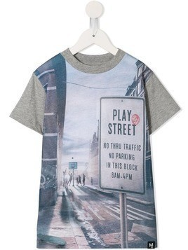 Molo Play Street print T-shirt - Grey
