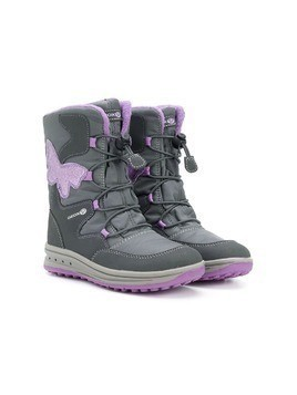 Geox Kids Butterfly lace-up boots - Grey