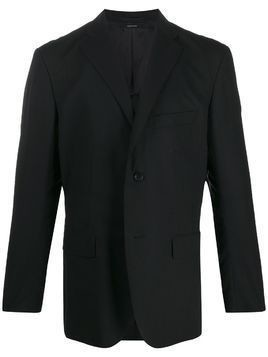 Issey Miyake Men boxy fit buttoned suit jacket - Black