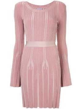 Hervé Léger ribbed fitted jumper dress - Pink