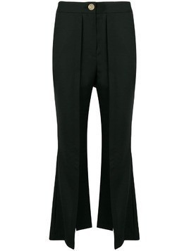 Eudon Choi cropped flared trousers - Black