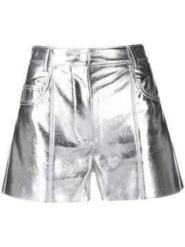 MSGM high waisted shorts - Silver