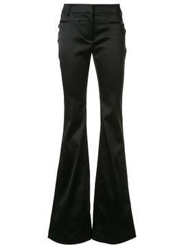 Tom Ford satin effect flared trousers - Black