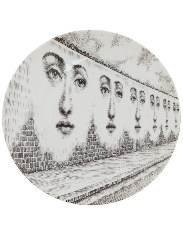 Fornasetti Plate - Grey