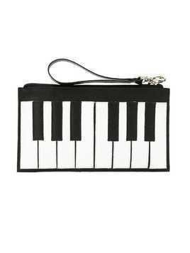 Sarah Chofakian leather Piano clutch - Black