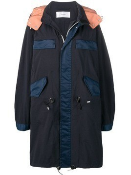 Julien David oversized hooded parka - Blue