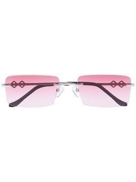 Karen Wazen Layla rectangle sunglasses - PINK