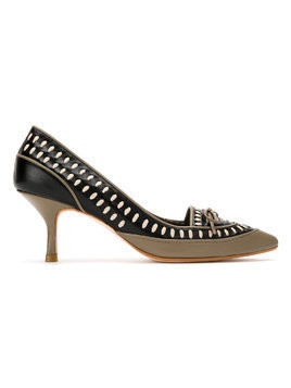 Sarah Chofakian panelled leather pumps - Black