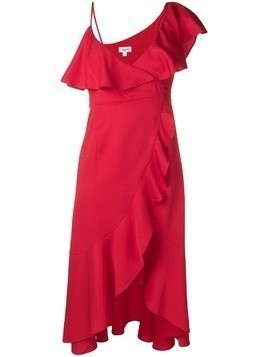 Jovonna ruffle-trimmed dress - Red