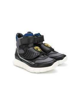 Bumper Lamborghini patch hi-top sneakers - Black