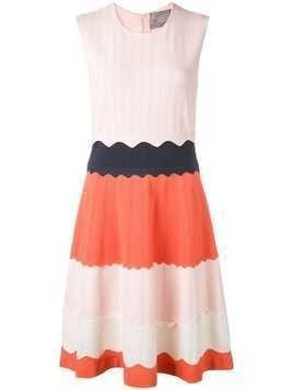 Lela Rose knitted fit-and-flare dress - Pink