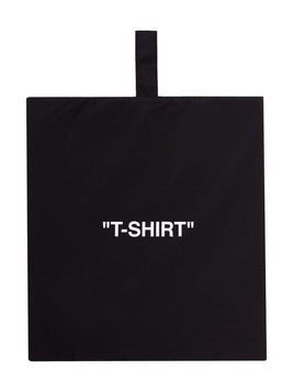 Off-White T-shirt-print pouch bag - Black