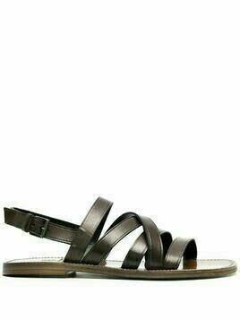 Silvano Sassetti leather strappy flat sandals - Green