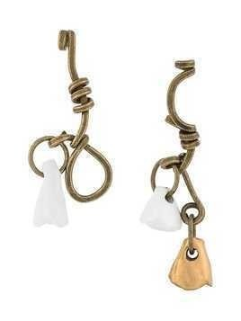 Marni asymmetric ceramic charm earrings - Metallic