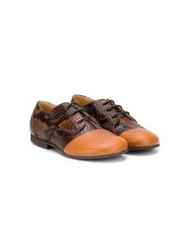 Gallucci Kids snakeskin effect lace-up shoes - Brown